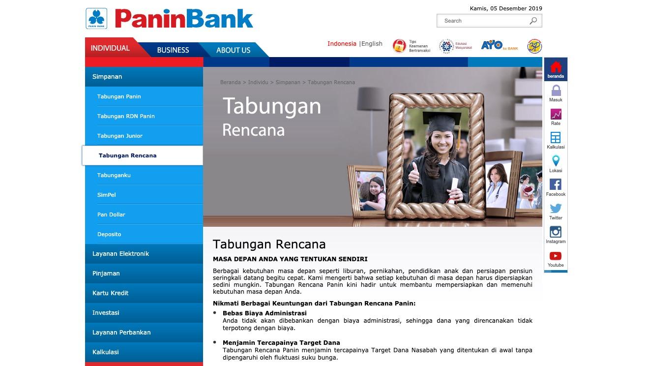 Tabungan Rencana Panin Bank