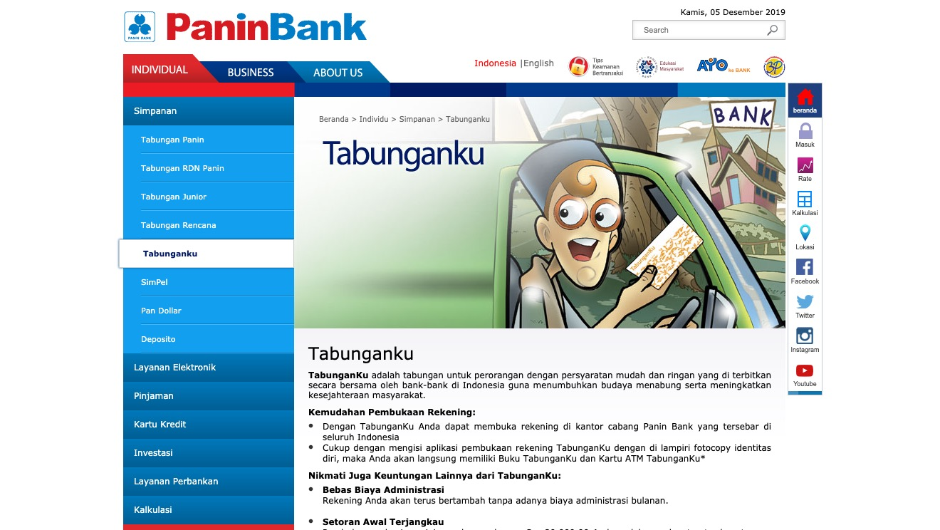 Tabunganku Panin Bank