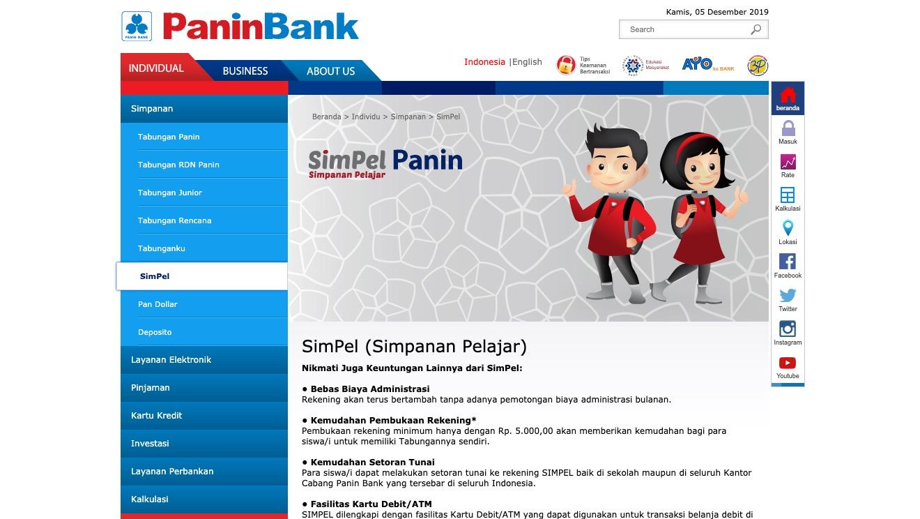 SimPel Panin Bank