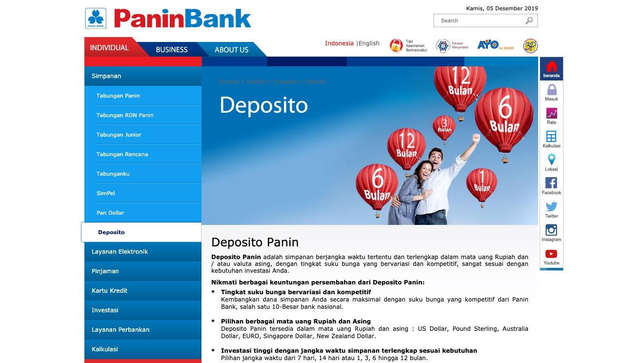 Deposito Panin Bank