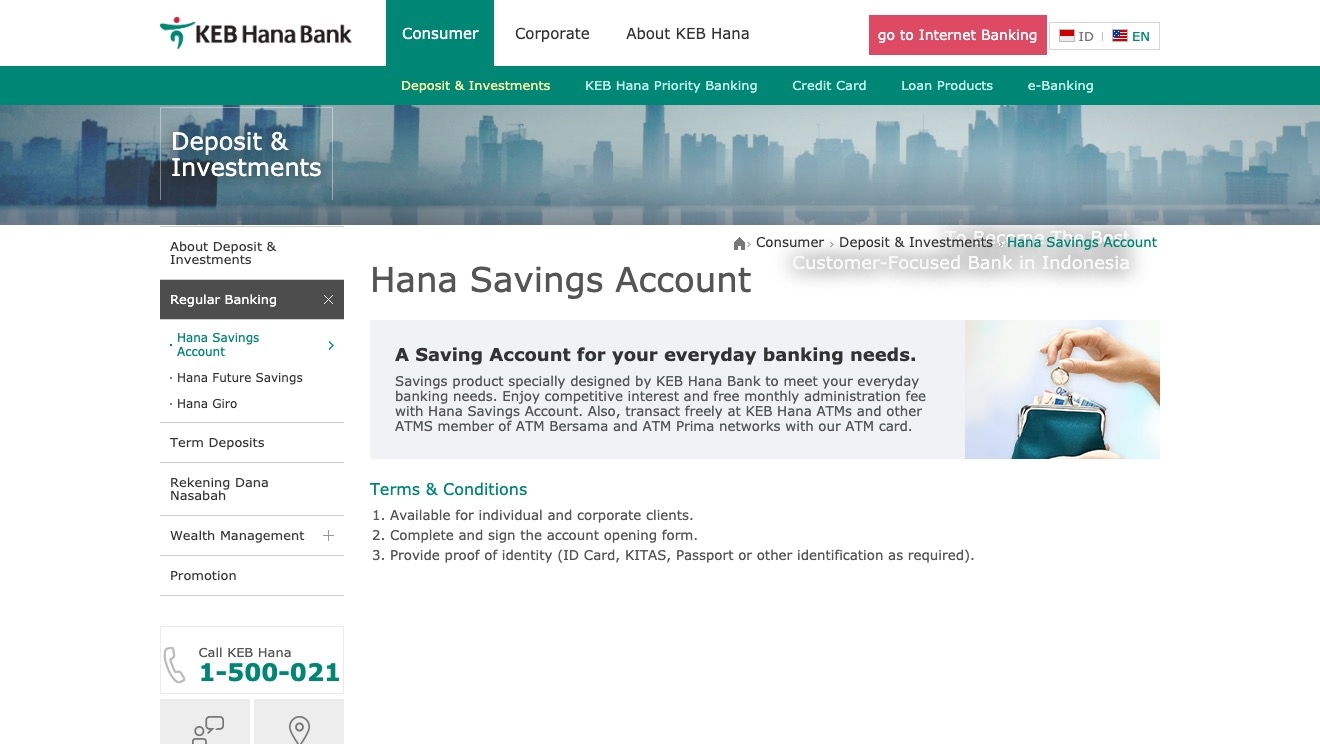 Hana Savings Account