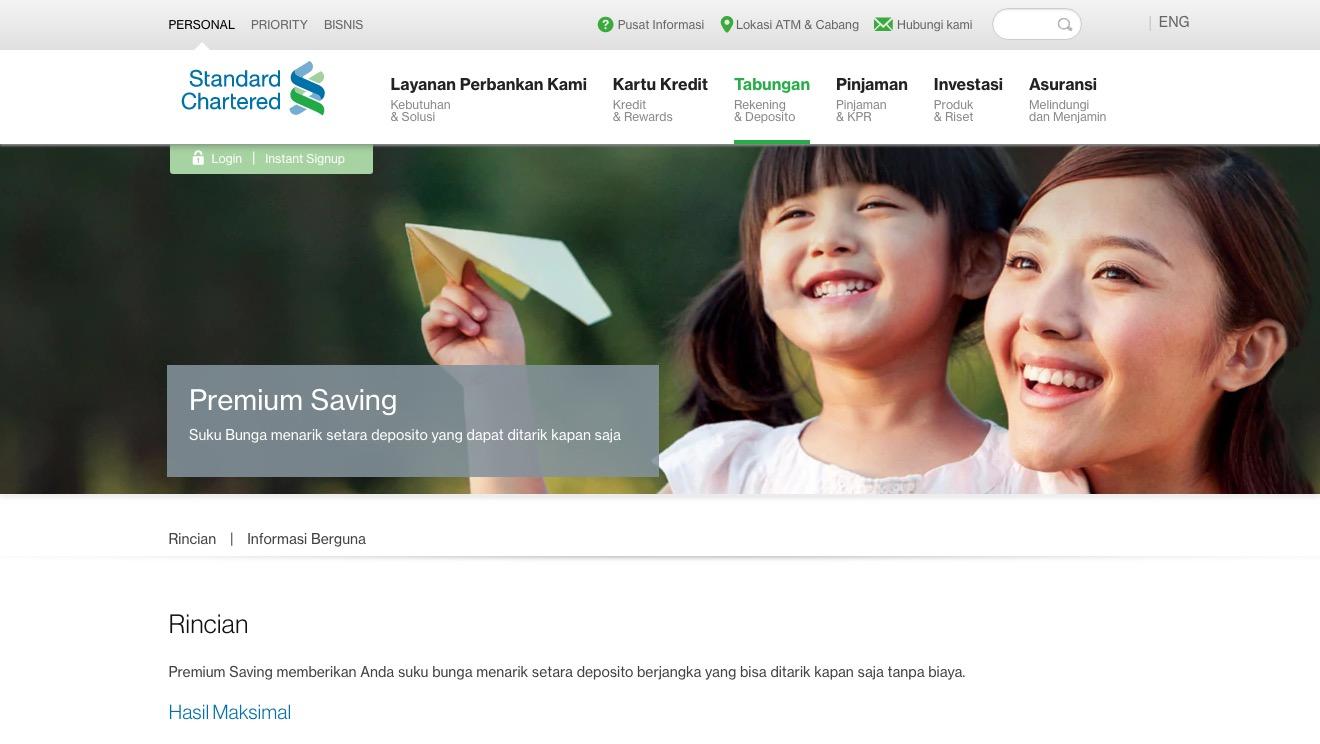 Premium Saving Standard Chartered