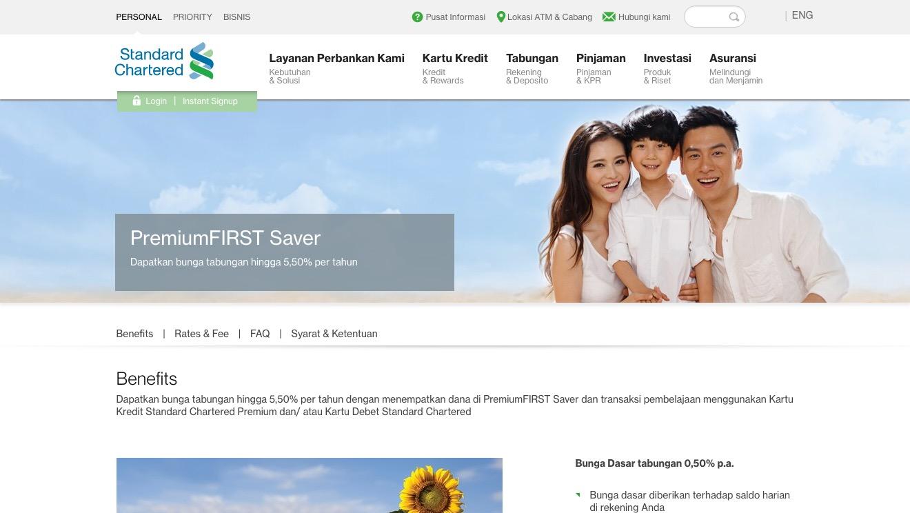 PremiumFIRST Saver Standard Chartered