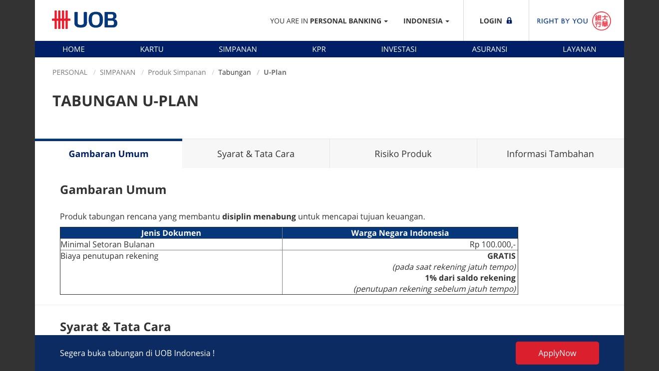 U-Plan UOB