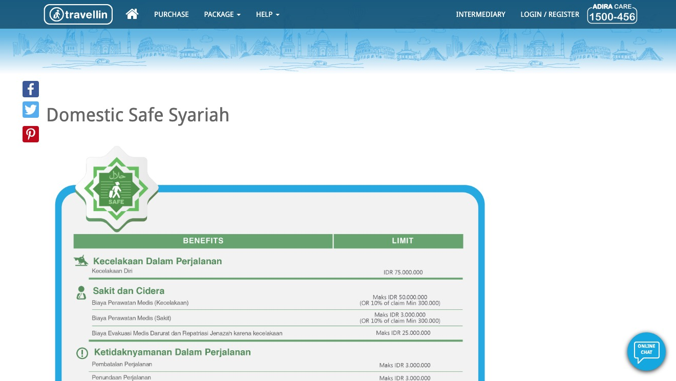 Travellin Domestic Safe Syariah