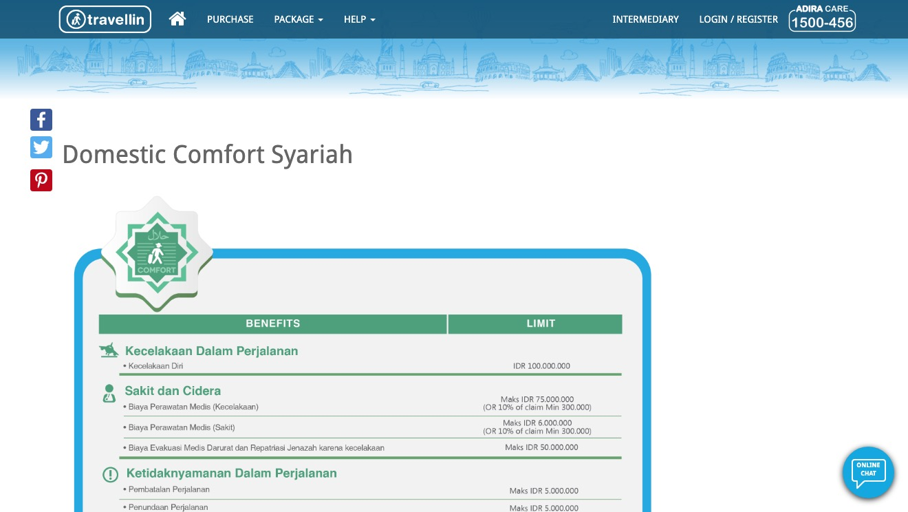 Travellin Domestic Comfort Syariah