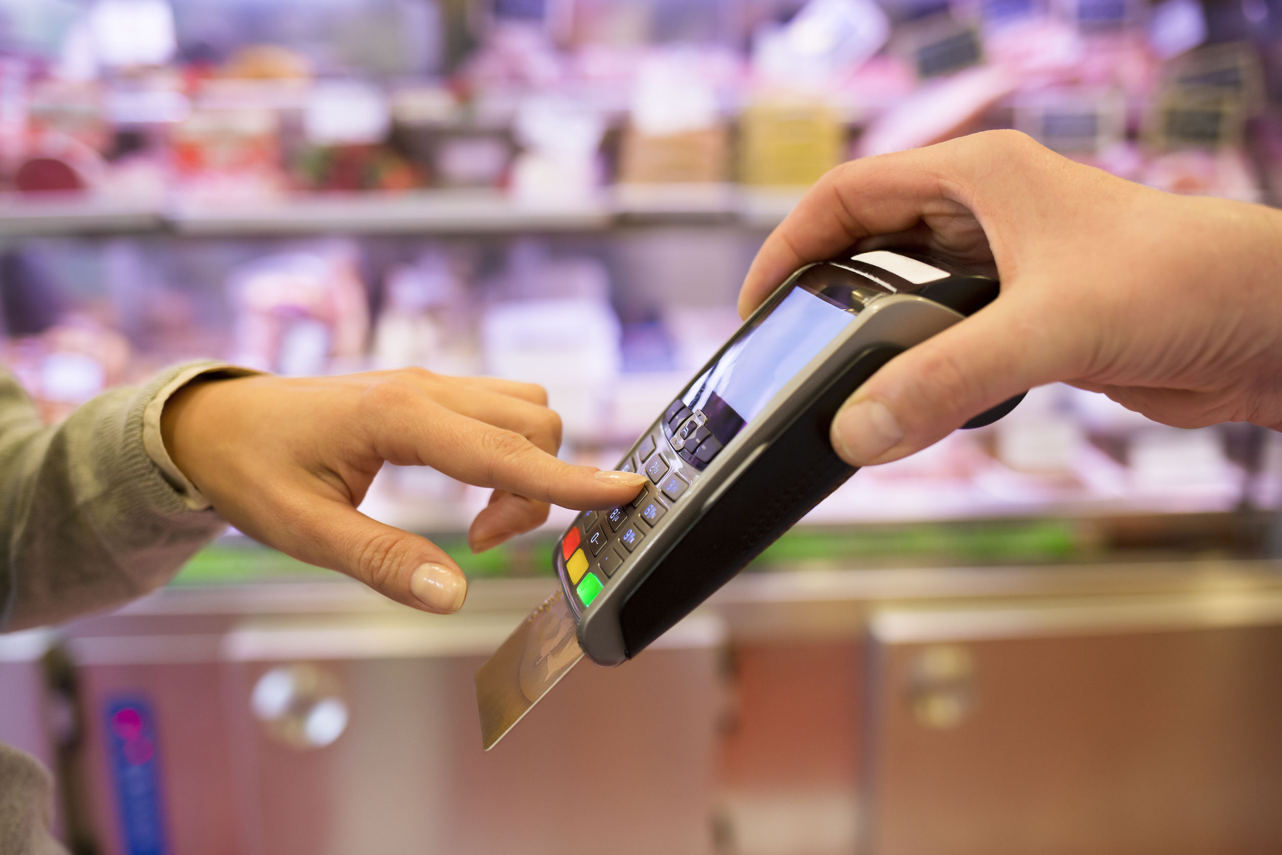 pay by credit card at store