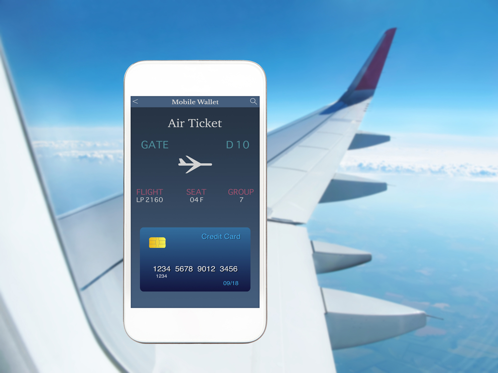 credit card air plane ticket