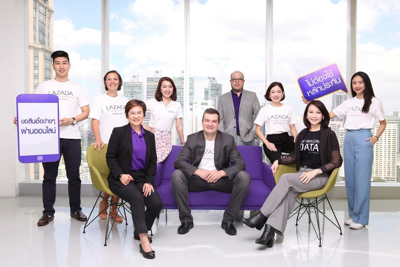 ครั้งแรกในประเทศไทยนำร่องสินเชื่อแม่ค้าออนไลน์ของลาซาด้า