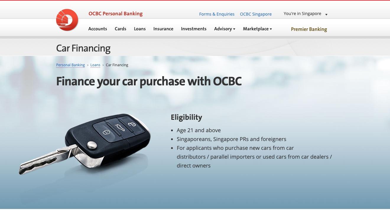 OCBC Car Financing