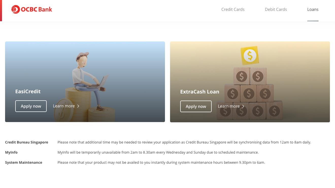 OCBC ExtraCash Loan
