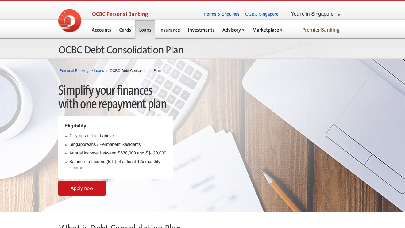 OCBC Debt Consolidation Plan