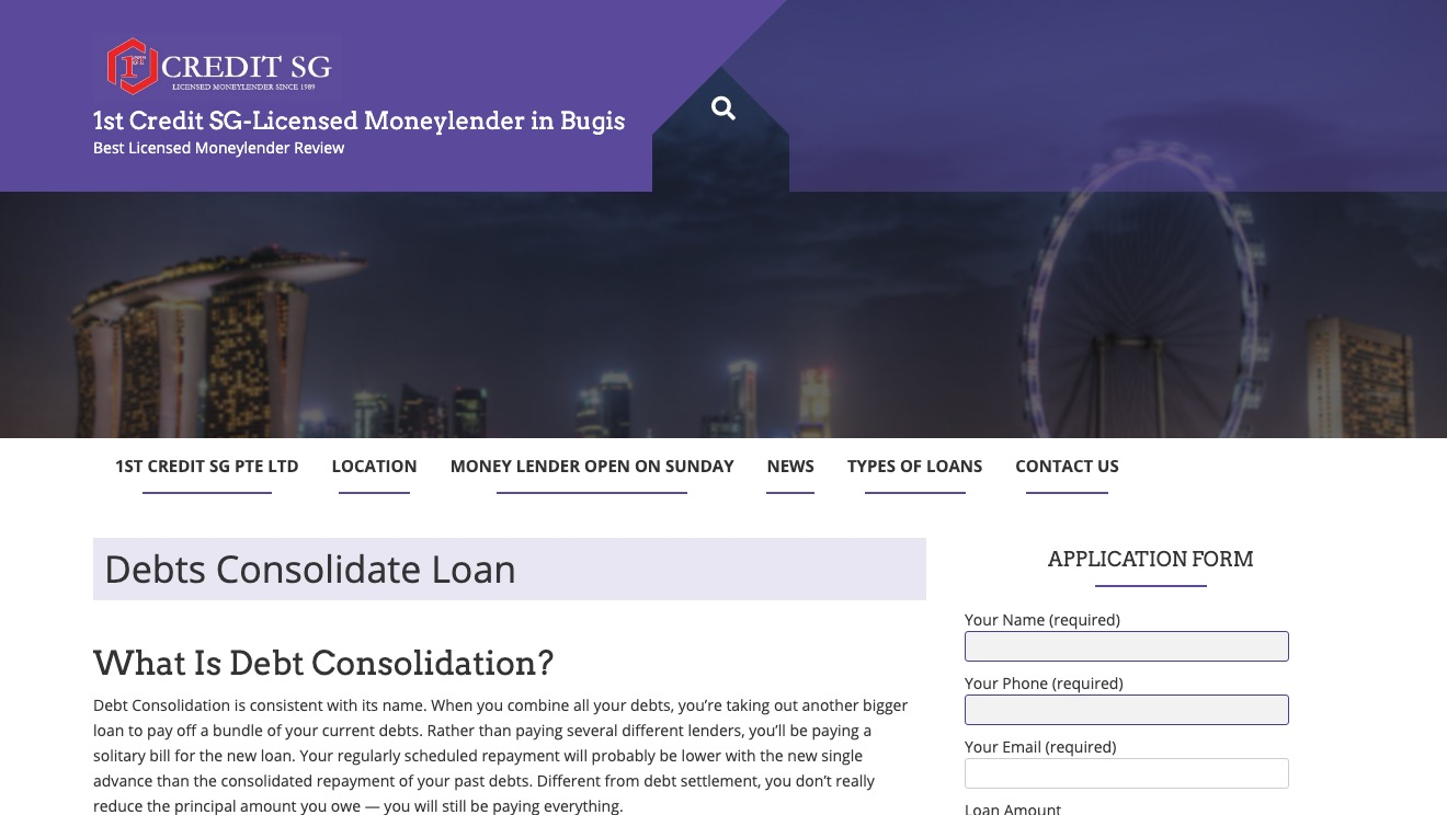 1st Credit  Debts Consolidate Loan
