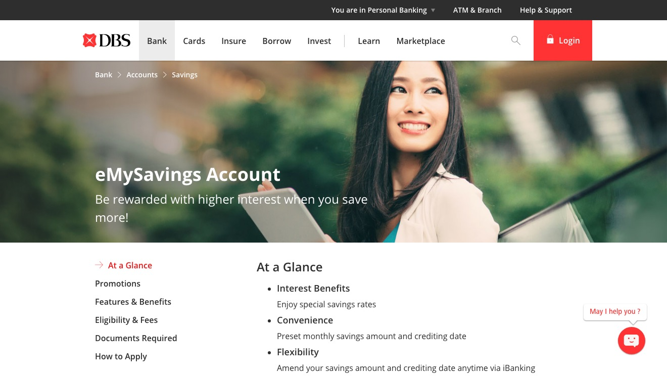DBS eMySavings Account