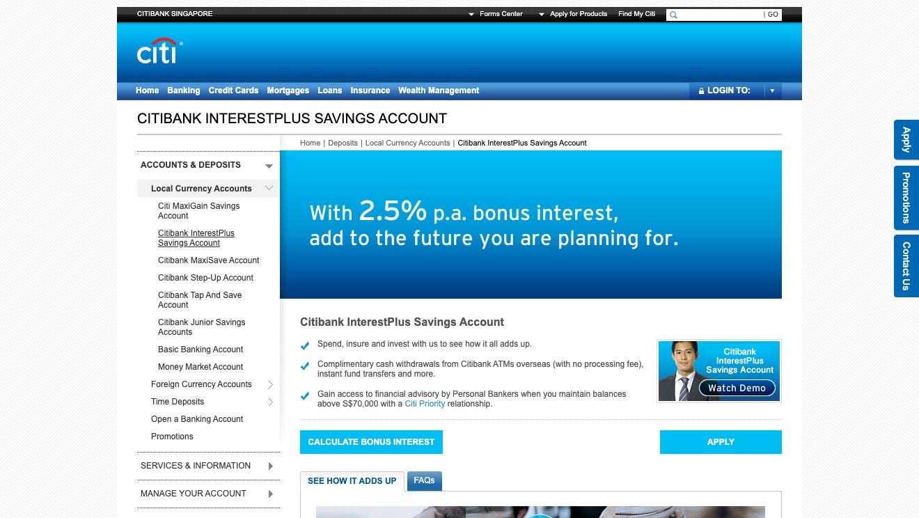Citibank InterestPlus Savings Account