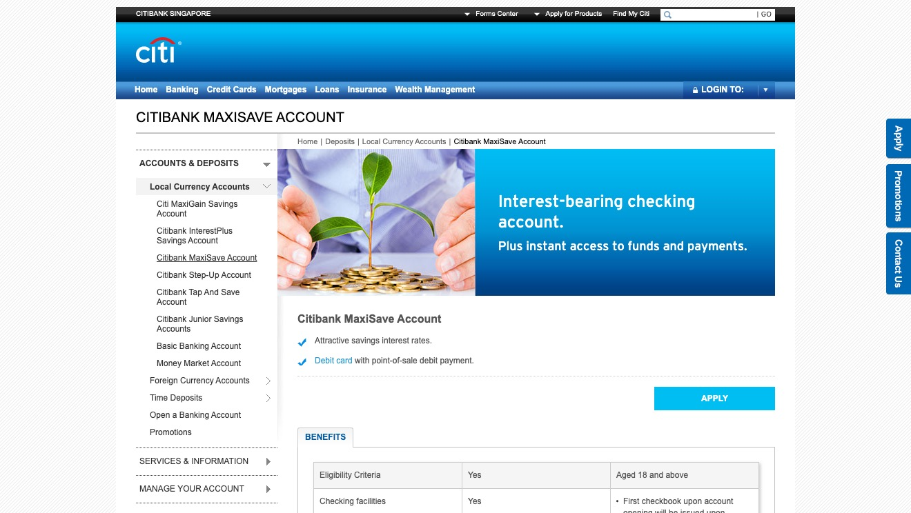 Citibank MaxiSave Account