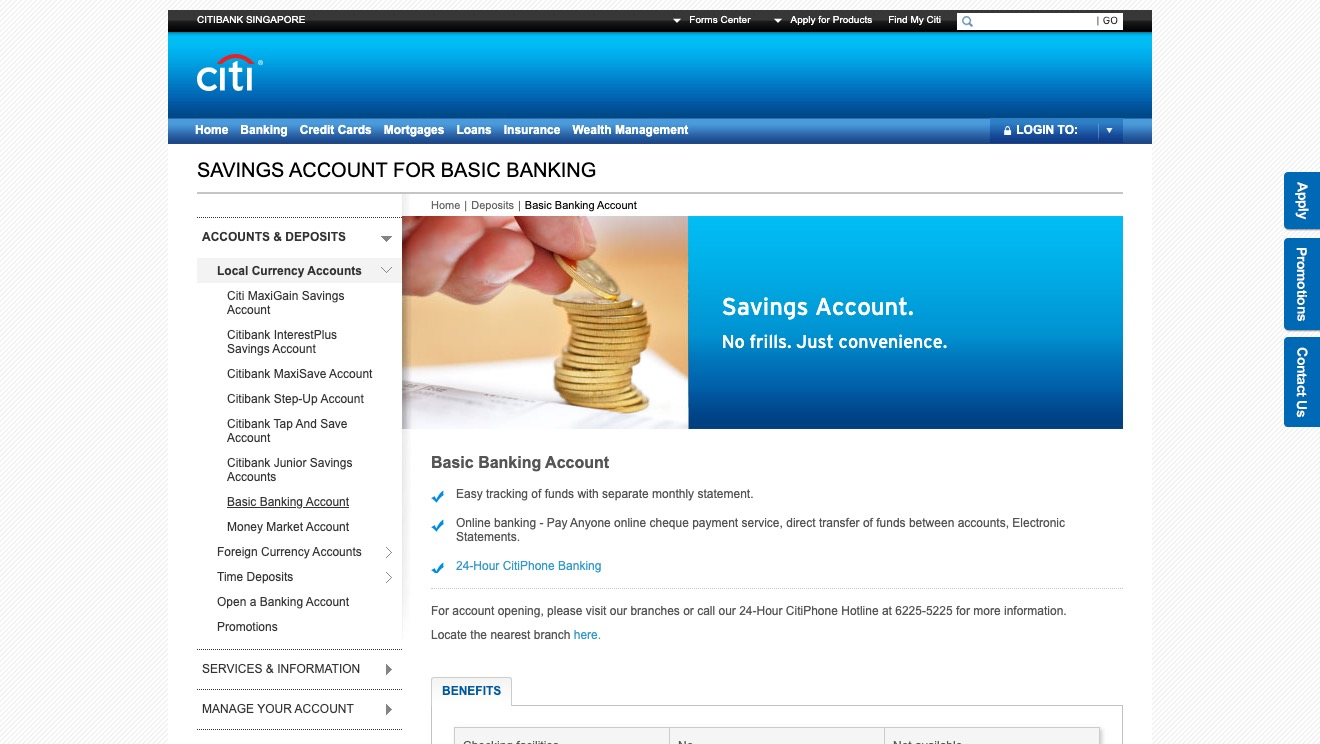 Citibank Basic Banking Account