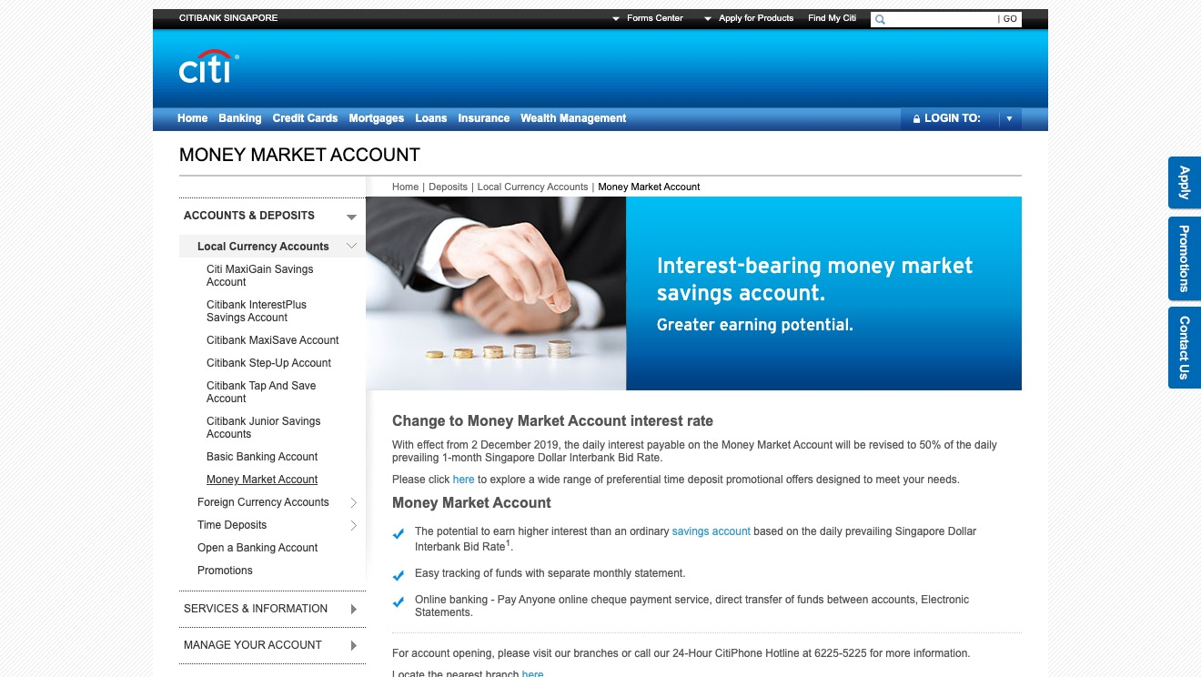 Citibank Account Online >> Citibank Money Market Account Moneyduck Singapore