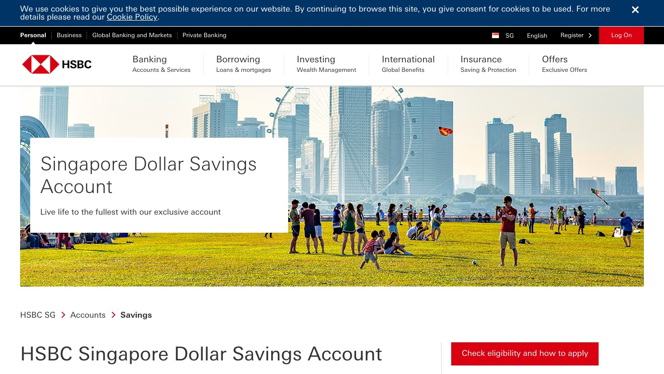 HSBC Singapore Dollar Savings Account