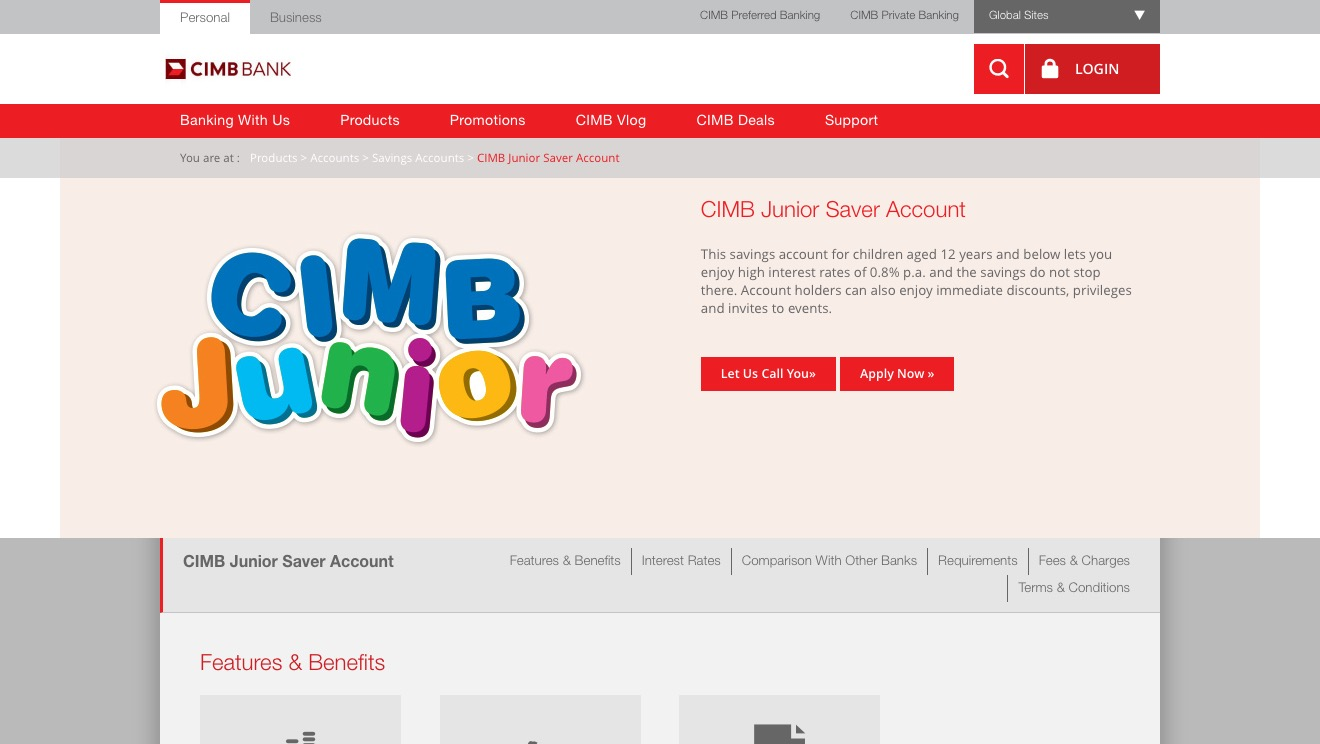 CIMB Junior Saver Account
