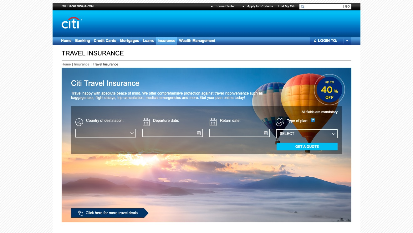 Citi Travel Insurance