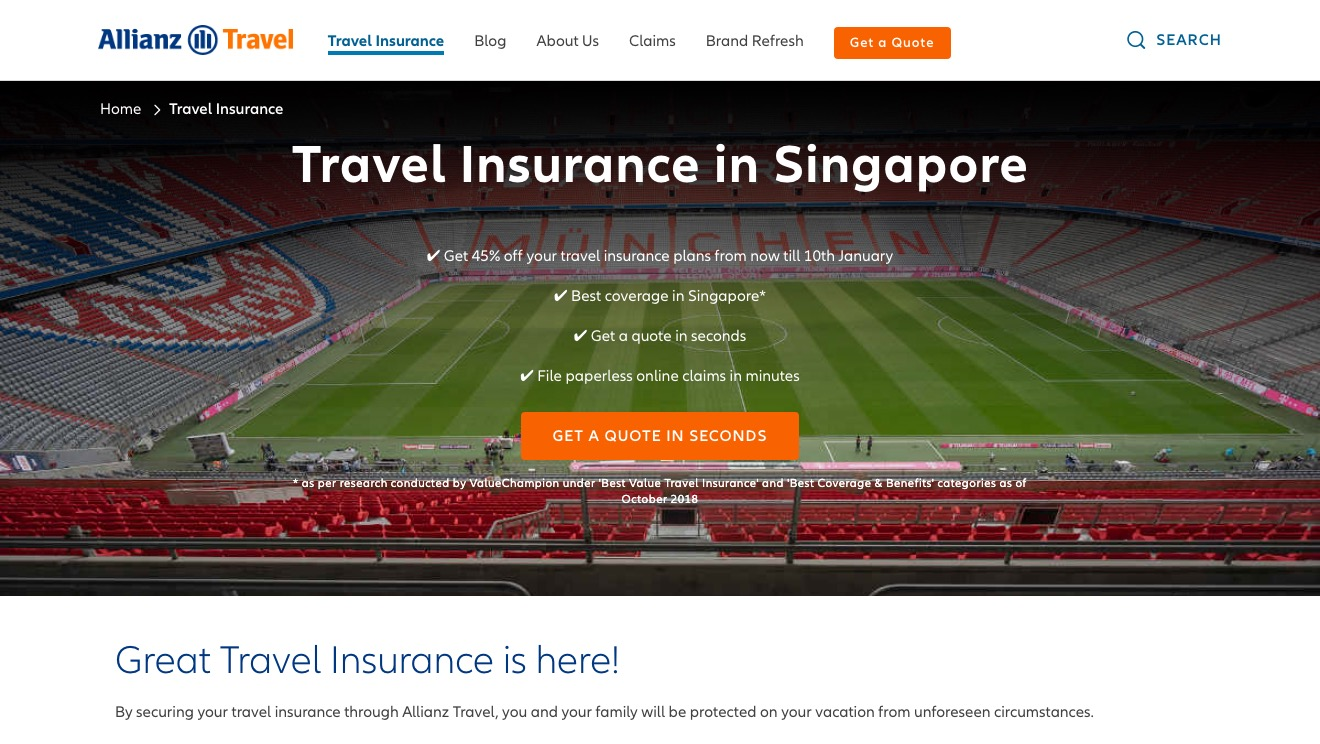 Allianz Single Trip Travel Insurance