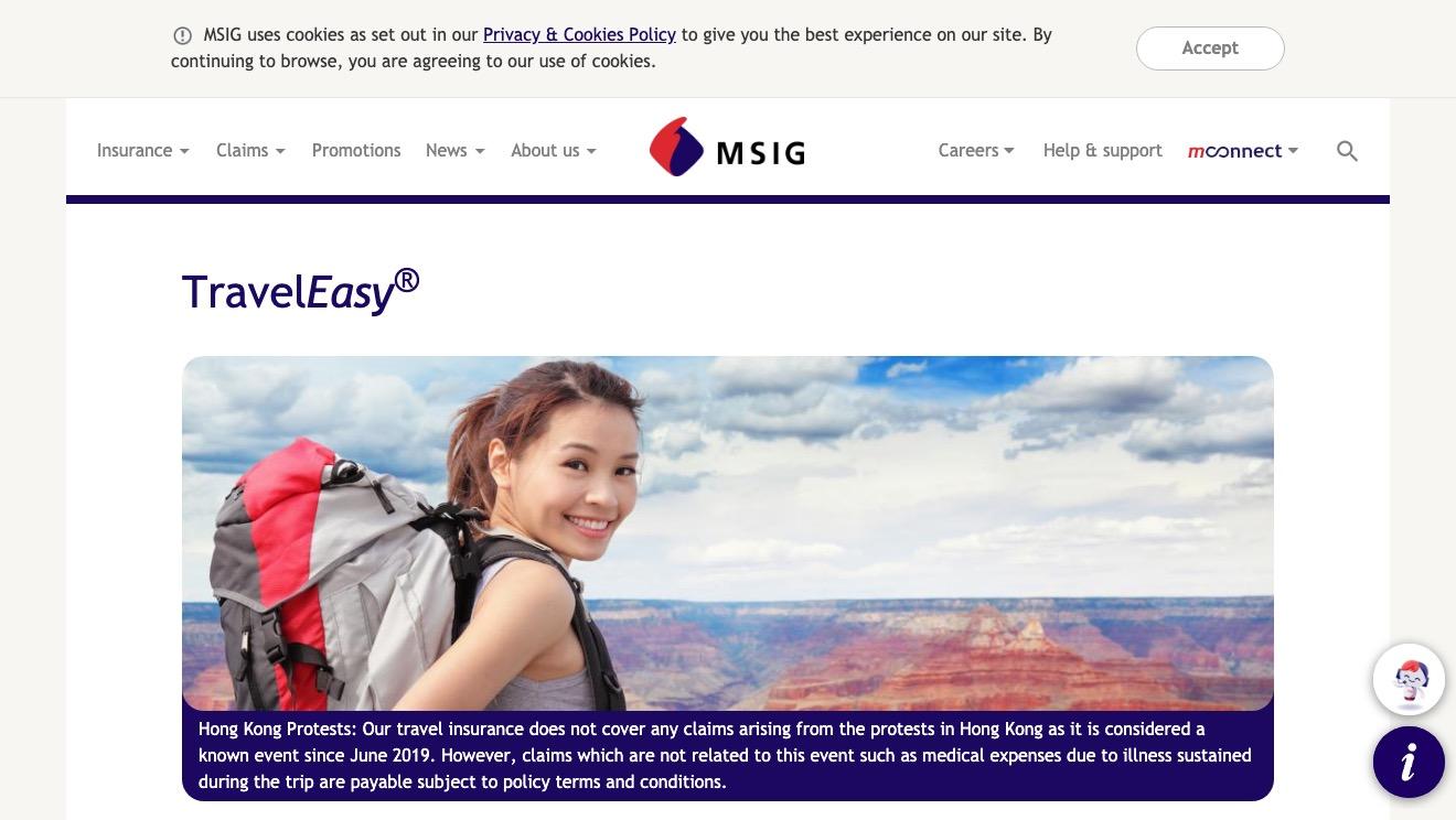 MSIG TravelEasy Standard