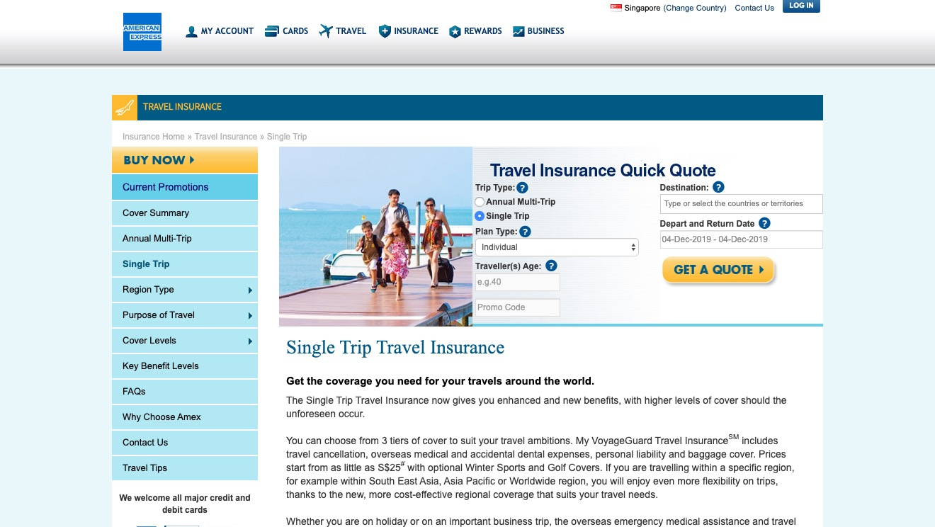 American Express VoyageGuard Travel Insurance Superior Plans