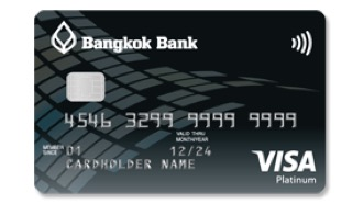 บัตรเครดิต วีซ่า แพลทินั่ม ธนาคารกรุงเทพ