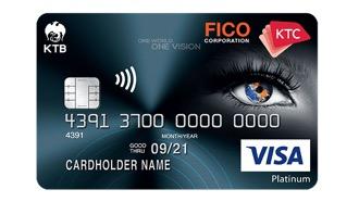 บัตรเครดิต เคทีซี ฟิโก วีซ่า แพลทินั่ม